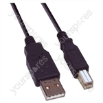 USB Male A to USB Male B Lead - Length (m) 5