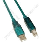 USB Male A to USB Male B Lead 3m
