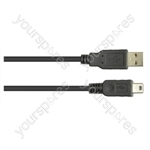 USB Male A to USB Mini B Lead - Length (m) 5