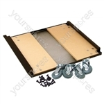 Rackz Castor Base Kit to fit Racks From 12 to 35U Supplied with Fixings