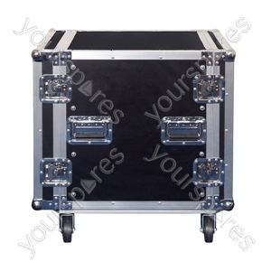 Rack Case On Wheels With Removable Lids front and rear - Rack Size 12U