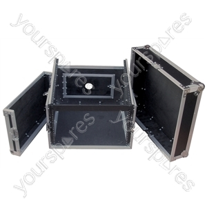 Flight Rack Case with 10U Mixer Top - Rack Size 6U