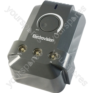 2 Way High Gain Plug-in Digital Aerial Amplifier (1 in 2 out)Inc. 4G LTE