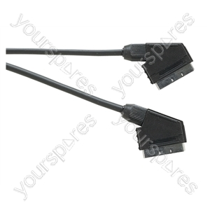 Standard Scart Plug to Scart Plug  TV and Video Lead All Pins Connected - Lead Length (m) 10