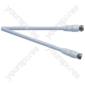 Standard F Type Plug to F Type Plug TV and Video Lead White - Lead Length (m) 5