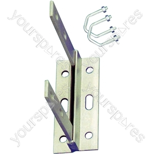 Aerial Wall Bracket with U Bolts - Length 6""