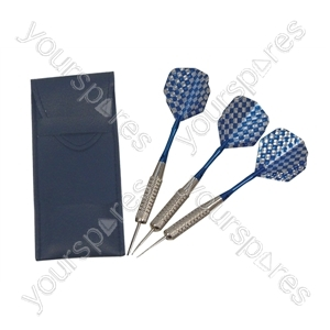 Electrovision Set of 3 x 18g Darts With Silver Flights - Supplied in a Wallet