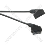 Standard Scart Plug to Scart Plug  TV and Video Lead All Pins Connected - Lead Length (m) 3