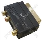 Scart Adaptor with Gold Plated Scart Plug