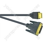 Premium Digital Screened DVID to HDMI Lead Black - Lead Length (m) 5