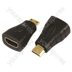 Electrovision Standard HDMI Female A to Mini HDMI Male Adaptor