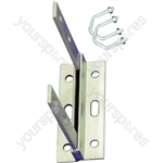 Aerial Wall Bracket with U Bolts - Length 9""