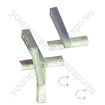 "T&K Aerial Bracket With U Bolts - Length (m) 0.304 (12"")"
