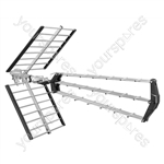Multi-Element Tri-Bar Digital Wideband TV Aerial