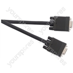 Standard 15 Pin D Plug to 15 Pin D Plug VGA Lead - Lead Length (m) 2