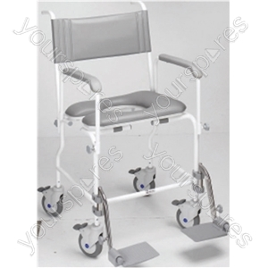 "Aquamaster (A06) Attendant Propelled Shower Commode Chair - Size Seat Width: 480 (19"")"
