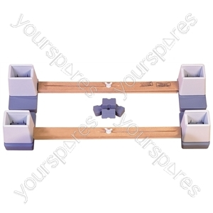 "Adjustable Height and Width Linked Bed Raiser - Size Width: 914 mm (36"") to 1460 mm (57 1/2"")"