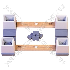 "Adjustable Height and Width Linked Bed Raiser - Size Width: 610 mm (24"") to 890 mm (35"")"