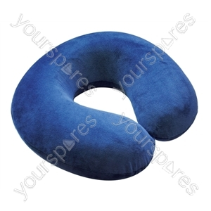 Memory Foam Neck Cushion - Colour Blue