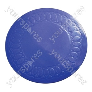 Tenura Silicone Rubber Anti Slip Circular Mat/Coaster 14 cm - Colour Blue