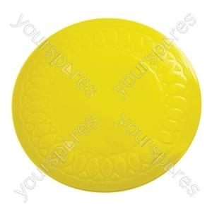 Tenura Silicone Rubber Anti Slip Circular Mat/Coaster 14 cm - Colour Yellow