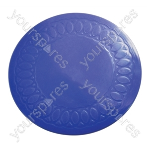 Tenura Silicone Rubber Anti Slip Circular Mat/Coaster 19 cm - Colour Blue