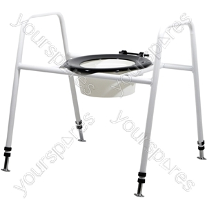 Solo Skandia Combined Bariatric Raised Toilet Seat and Frame - Configuration Floor Fixed with Splash Guard