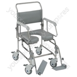Transaqua (TA6) Attendant Propelled Shower Commode Chair - Size 19""