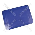 Tenura Silicone Rubber Anti Slip Rectangular Mat 25.5x18.5 cm - Colour blue