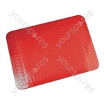 Tenura Silicone Rubber Anti Slip Rectangular Mat 25.5x18.5 cm - Colour red