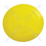 Tenura Silicone Rubber Anti Slip Circular Mat/Coaster 14 cm - Colour Yellow