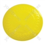 Tenura Silicone Rubber Anti Slip Circular Mat/Coaster 19 cm - Colour Yellow
