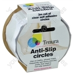 Tenura Aqua Safe Anti Slip Bath and Shower Discs - Colour Clear
