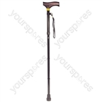 Collapsible Walking Stick with Wooden Handle