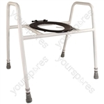 Solo Skandia Combined Bariatric Raised Toilet Seat and Frame - Configuration Free Standing with Splash Guard