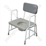 Dorset Devon and Suffolk Bariatric Commodes - Configuration Detachable Arms