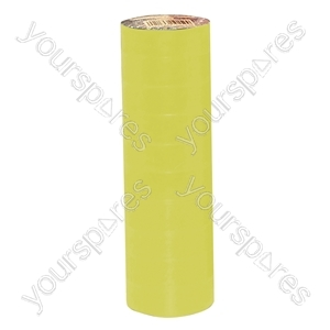 Eagle Yellow 19 mm x 30 m High Quality PVC Tape (Pack of 10)