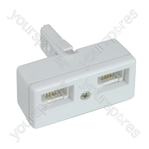 Double Telephone Adaptor (4 Wire). Bulk