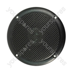 "4"" Black 100V Line Waterproof Ceiling speaker 6W"