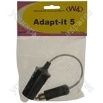 Adapt-It Cigar Socket To Hella Type Single Pole Plug Adaptor