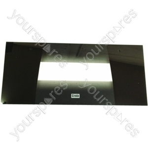 Indesit Top Oven Outer Door w/ Black Detail