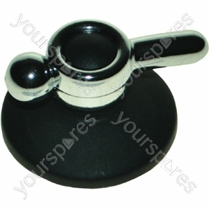 Indesit Black and Chrome Cooker Control Knob