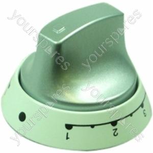 Indesit White/Aluminium Twin Control Knob