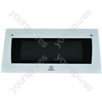 Indesit Top Oven Outer Door Glass w/ White Detail