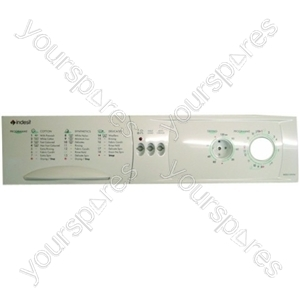 Indesit Washing Machine White Control Panel and Display Front