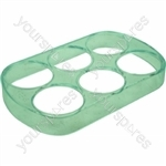 Eggs Tray (6) (152x95x20) Cristal Green