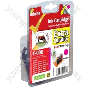 Inkrite NG Printer Ink (Chipped) Canon iP3300 4200 4300 5200 ix4000 MP500 - CLI-8M Magenta (Horse)