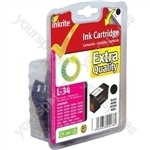 Inkrite NG Ink Cartridges (No.34) for Lexmark P4350 X7170 - 18C0034 Black