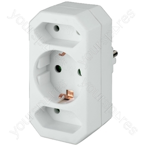 Mains Distributor - 3-way Socket Splitter