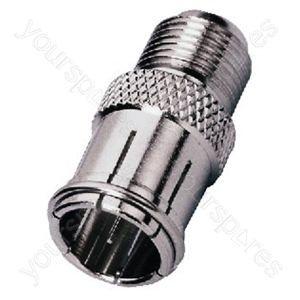 F Connector - Adapter Screw-on F jack/slide-on F Plug